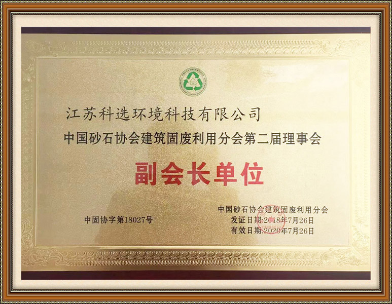 THE VICE PRESIDENT OF THE CHINA SAND-STONE ASSOCIATION
